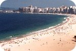 View of Copacabana beach