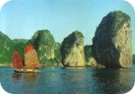 Postcard of Halong Bay